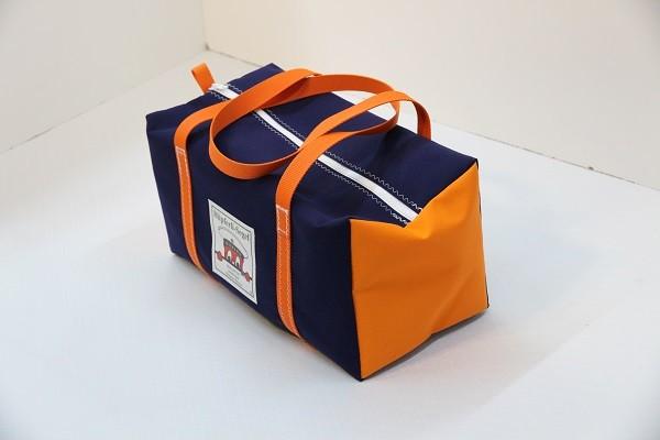 kleine Sporttasche marineblau orange 40-22-22