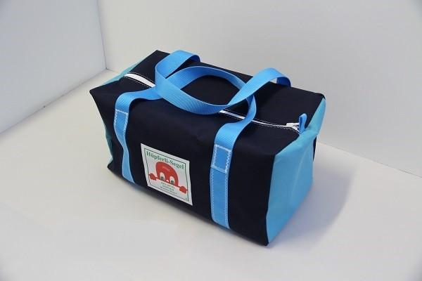 Sporttasche/Weekender marineblau-hellblau 50-27-27