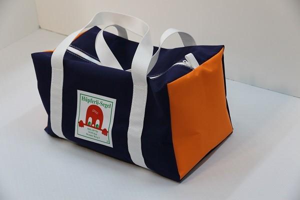 Sporttasche/Weekender marineblau orange weiß 50-27-27
