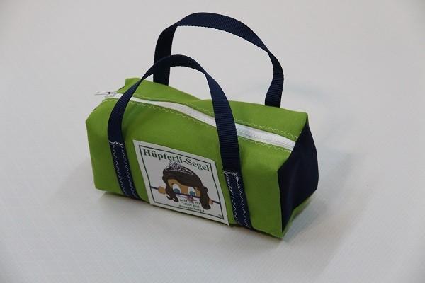 kleine Kulturtasche giftgrün marineblau 25-10-10