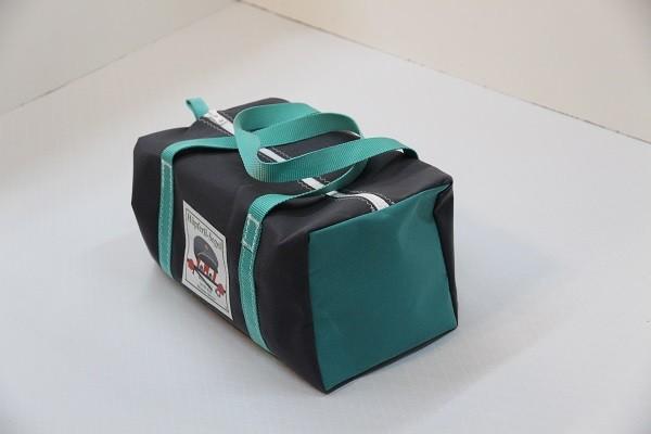 Kindersporttasche anthrazit türkis 35-20-20