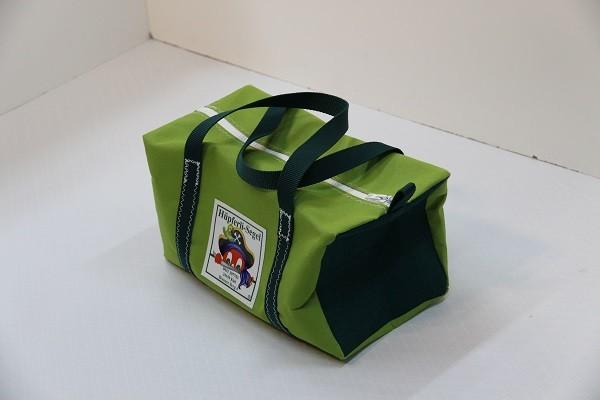 Kindersporttasche giftgrün tweedgrün dunkelgrün 35-20-20