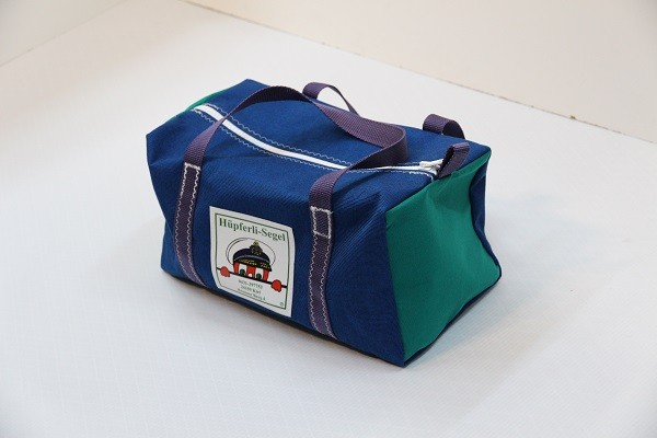 Kindersporttasche tweedblau grün dunkellila 35-20-20