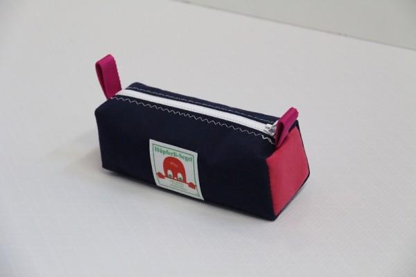 marineblau - pink Federtasche