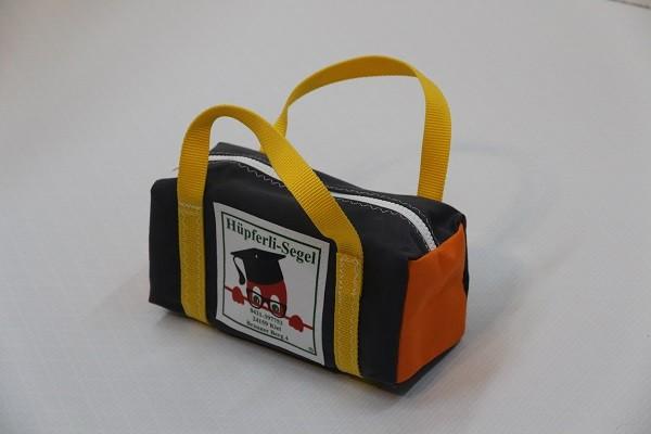 kleine Kulturtasche anthrazit orange gelb 25-10-10