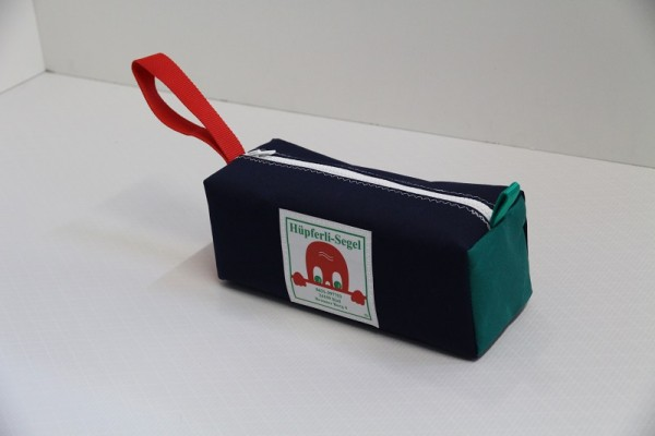 marineblau rot-grün Kulturtasche