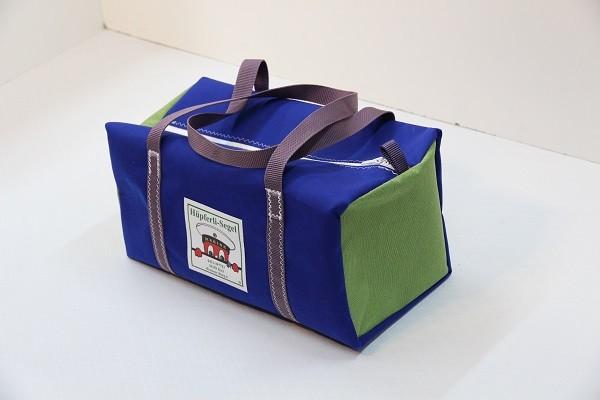 kleine Sporttasche königsblau grasgrün flieder 40-22-22