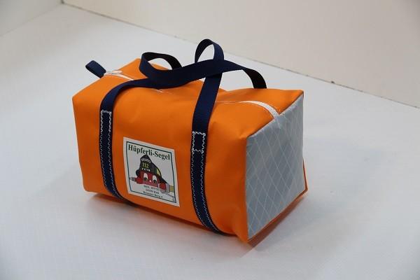 Kindersporttasche orange silber-grau marineblau 35-20-20