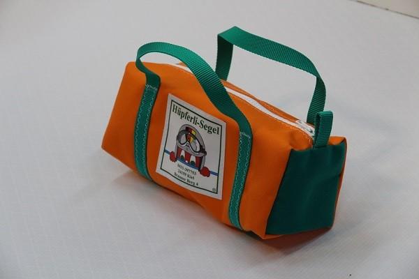 Kulturtasche mit Henkeln orange grün 30-12-12