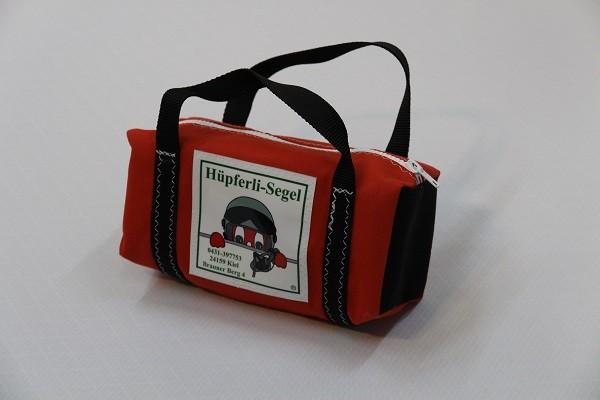 kleine Kulturtasche rot schwarz 25-10-10