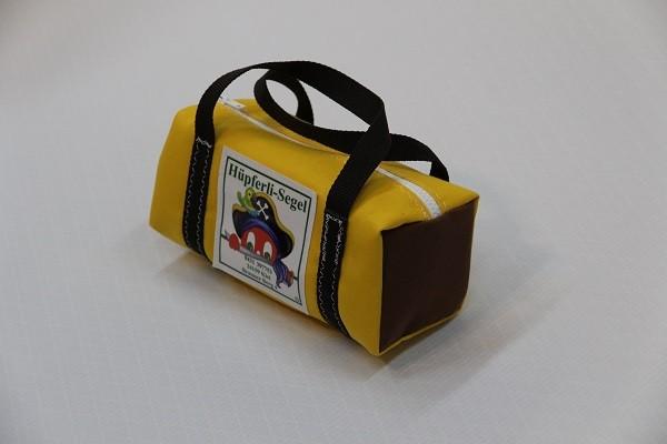 kleine Kulturtasche gelb braun dunkelbraun 25-10-10