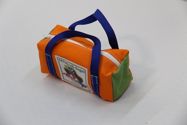 kleine Kulturtasche orange grasgrün königsblau 25-10-10