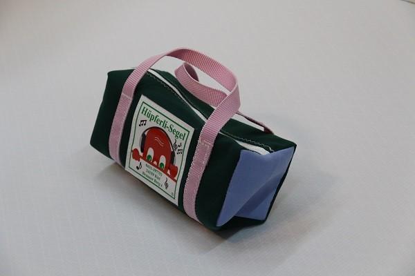kleine Kulturtasche dunkelgrün saphirblau rosa 25-10-10