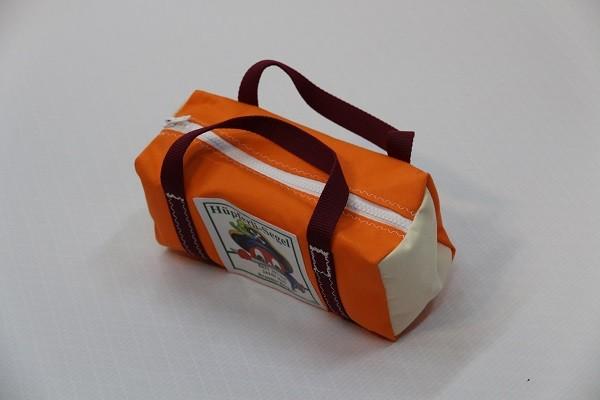 kleine Kulturtasche orange sand dunkelrot 25-10-10