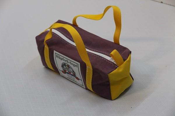 Kulturtasche mit Henkeln flieder gelb 30-12-12