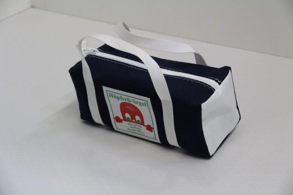 Kulturtasche mit Henkeln marineblau weiß 30-12-12