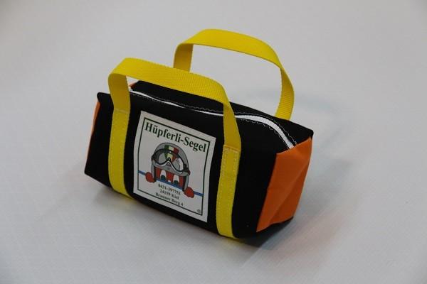 kleine Kulturtasche schwarz orange hellgelb 25-10-10