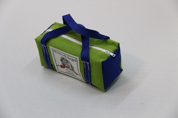 kleine Kulturtasche giftgrün königsblau 25-10-10