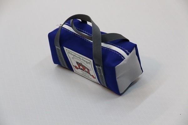 kleine Kulturtasche königsblau hellgrau anthrazit 25-10-10