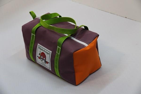 Kindersporttasche flieder orange giftgrün 35-20-20