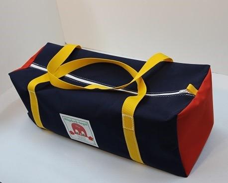 Reisetasche marineblau rot gelb 75-27-27