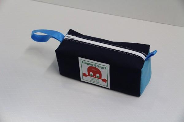 Kulturtasche marineblau hellblau