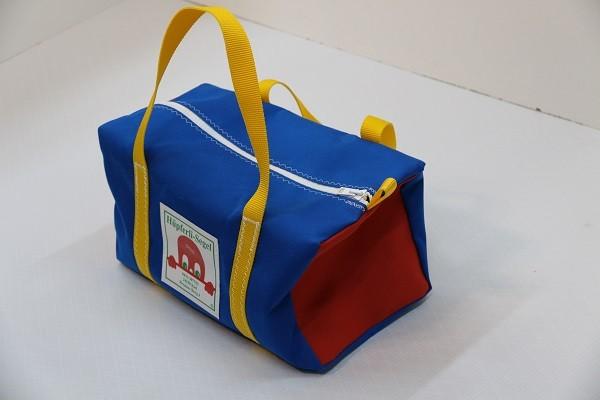 Kindersporttasche leuchtblau rot gelb 35-20-20