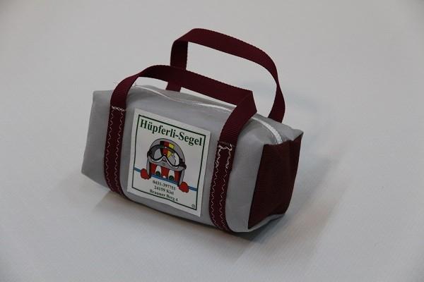 kleine Kulturtasche hellgrau tweedrot dunkelrot 25-10-10
