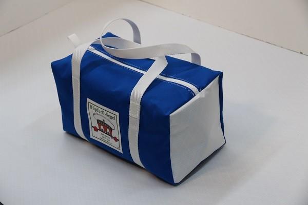 Kindersporttasche leuchtblau weiß 35-20-20