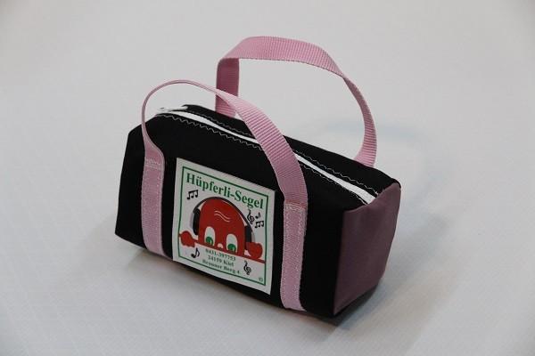 kleine Kulturtasche schwarz flieder rosa 25-10-10