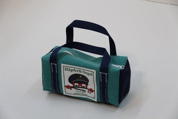 kleine Kulturtasche türkis marineblau 25-10-10